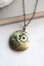 Load image into Gallery viewer, Owl Locket Necklace