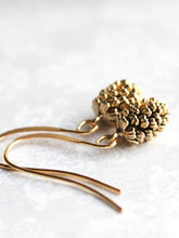 Load image into Gallery viewer, Rustic Gold Pinecone Earrings