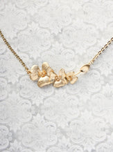 Load image into Gallery viewer, Gold Orchid Necklace