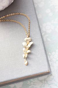 Gold Orchid Necklace
