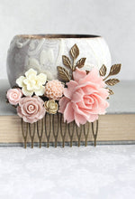 Load image into Gallery viewer, Pink Floral Comb - C1027
