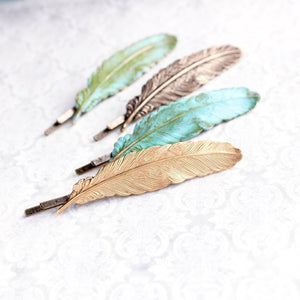 Feather Bobby Pin - one piece