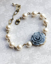 Load image into Gallery viewer, Rose Bracelet - Dusty Blue