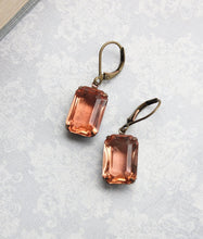 Load image into Gallery viewer, Peach Drop Earrings