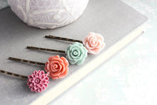 Load image into Gallery viewer, Flower Bobby Pins - BP1006