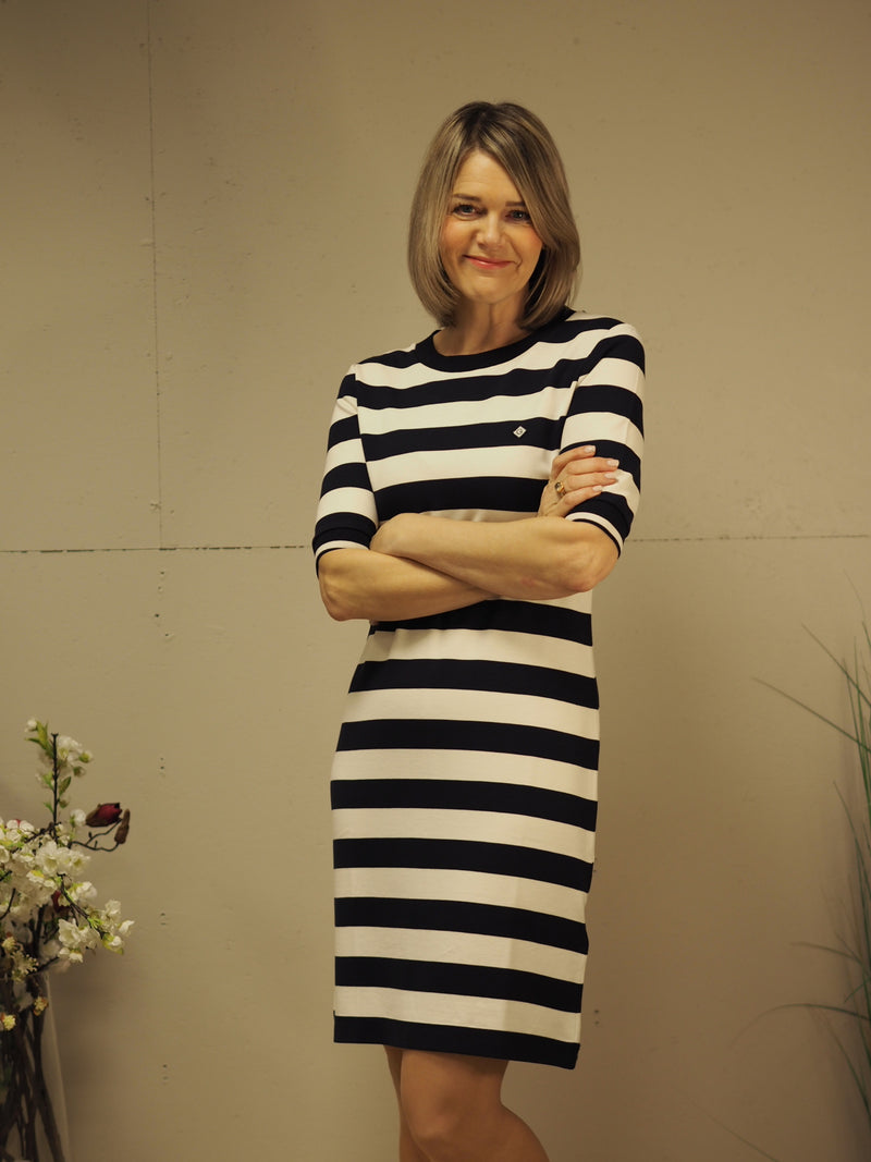 Gant D1 Bar striped jersey dress