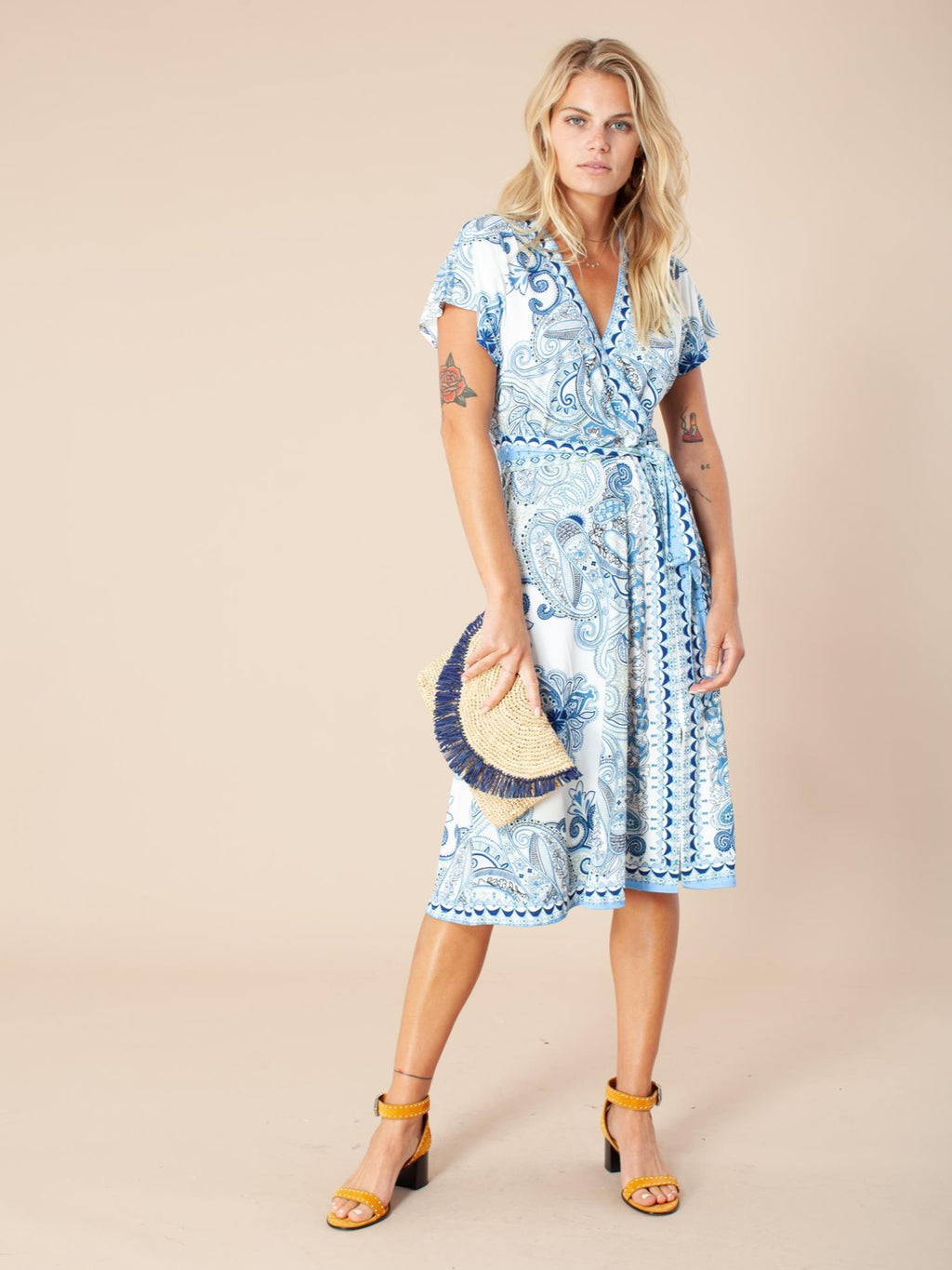Hale Bob Dress fake wrap
