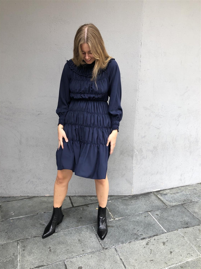 Gathered Midi Dress