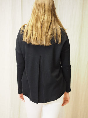 Cash Mix Sweater Pleat at CB