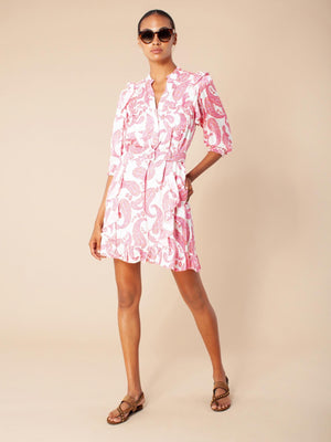 Hale Bob Dress silk-viscose w belt