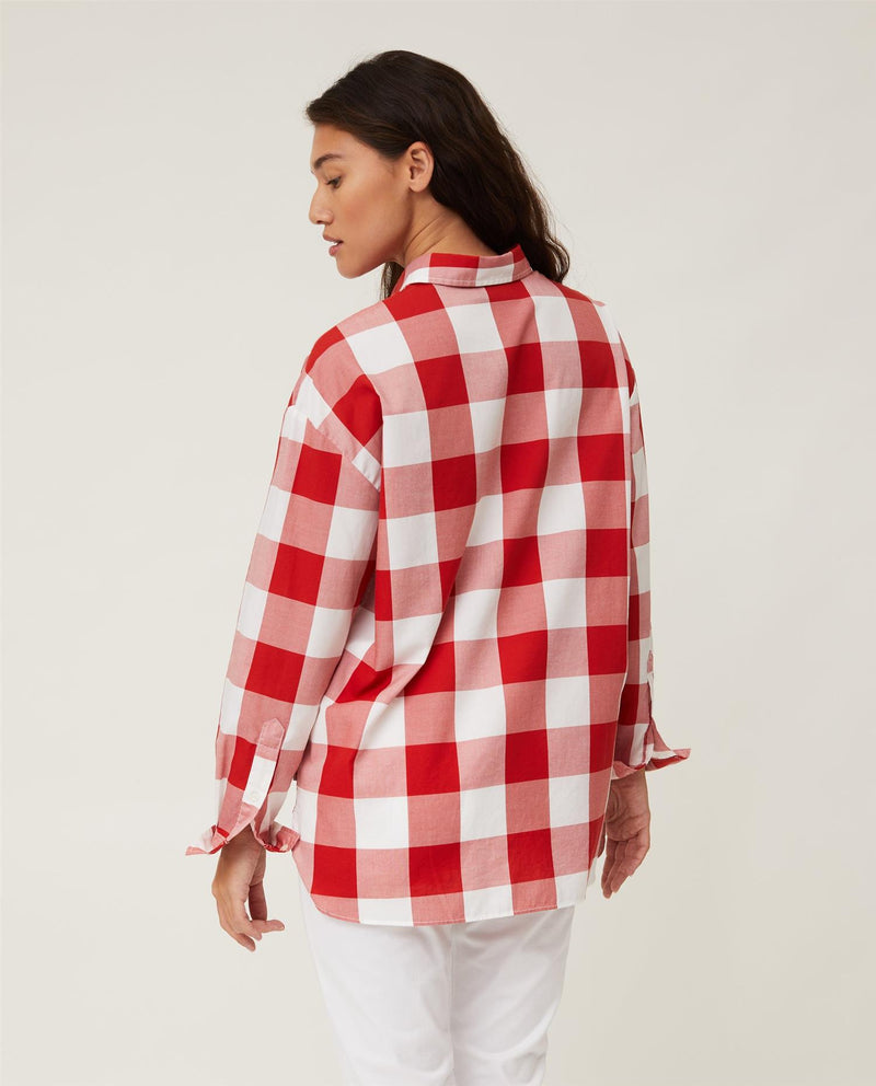 Edith Check Lt Oxford Shirt