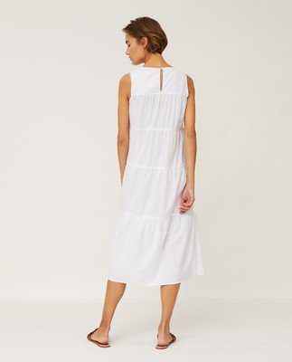 Sofie Tiered Poplin Dress