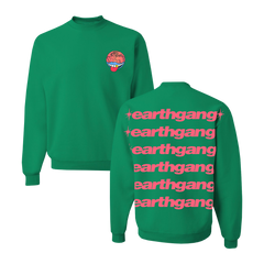 Green Repeat Logo Crewneck