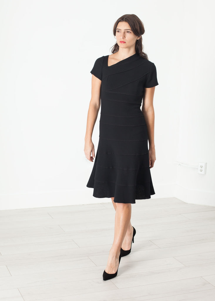 Lined Silhouette Dress in Black
