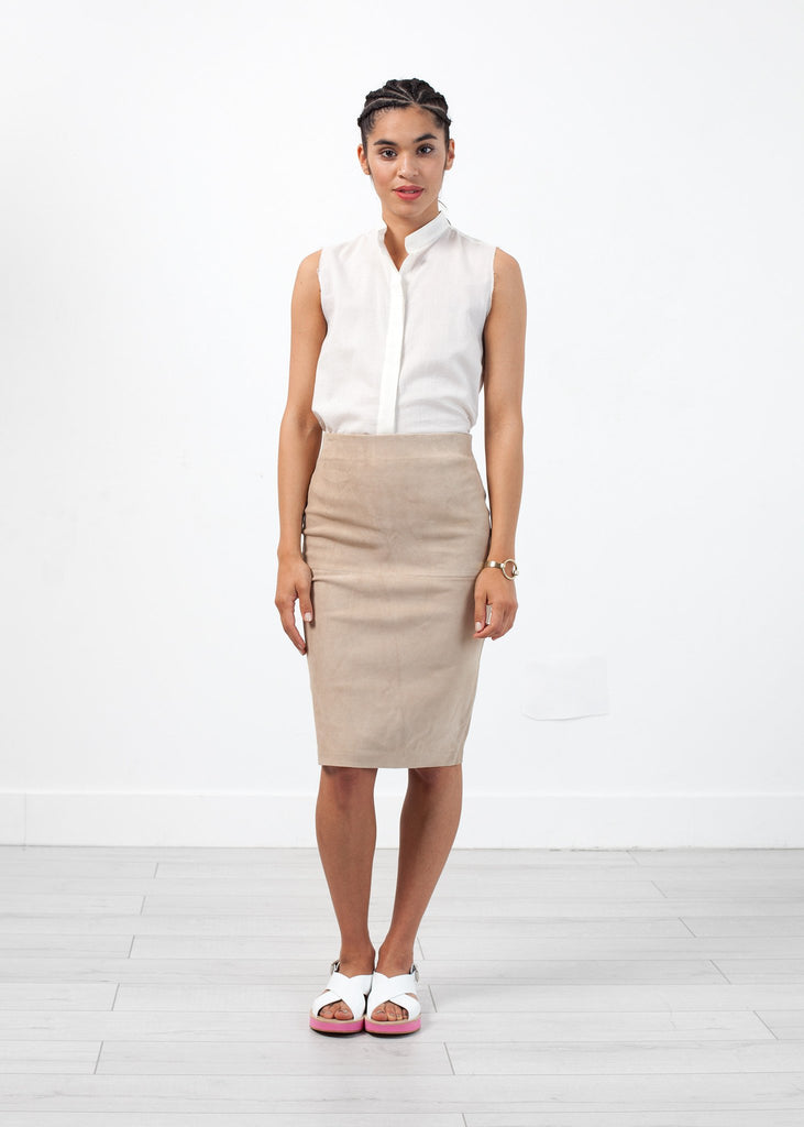 Floridia Leather Skirt