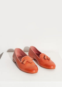 Leather Loafer in Rose