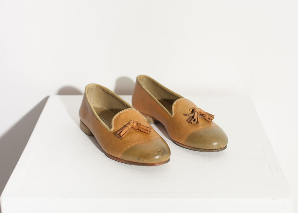 Leather Loafer in Lime