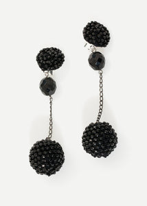 Drop Cluster Earring in Black
