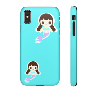 Mermaid Girl Snap Cases