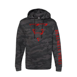 Realness Vibes Camoflauge Cherry Red Hoodie