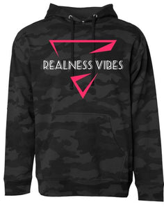 Realness Vibes Black Camouflage Hoodie