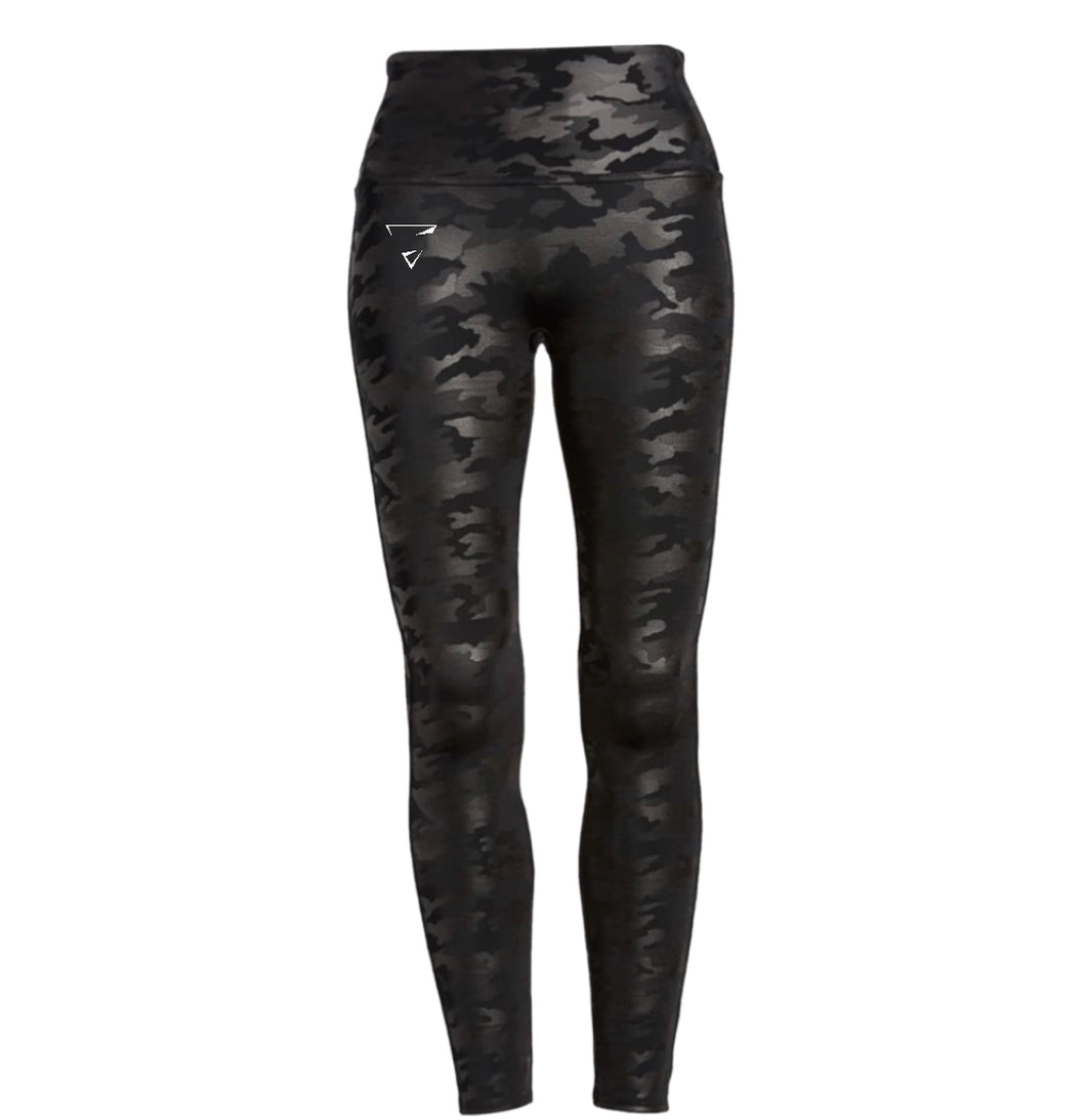 Realness Vibes Black Camouflage Leggings