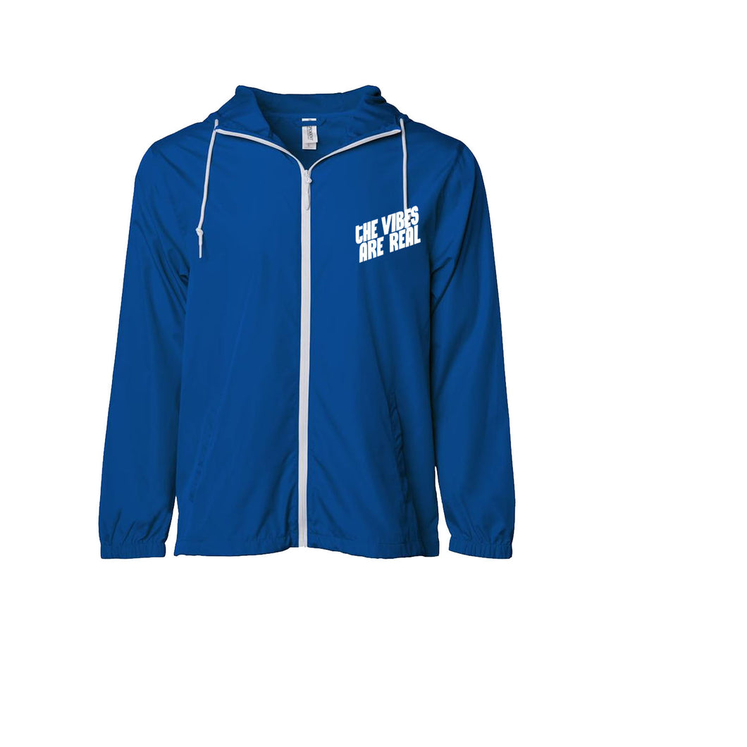 The Vibes Are Real Royal Blue Windbreaker