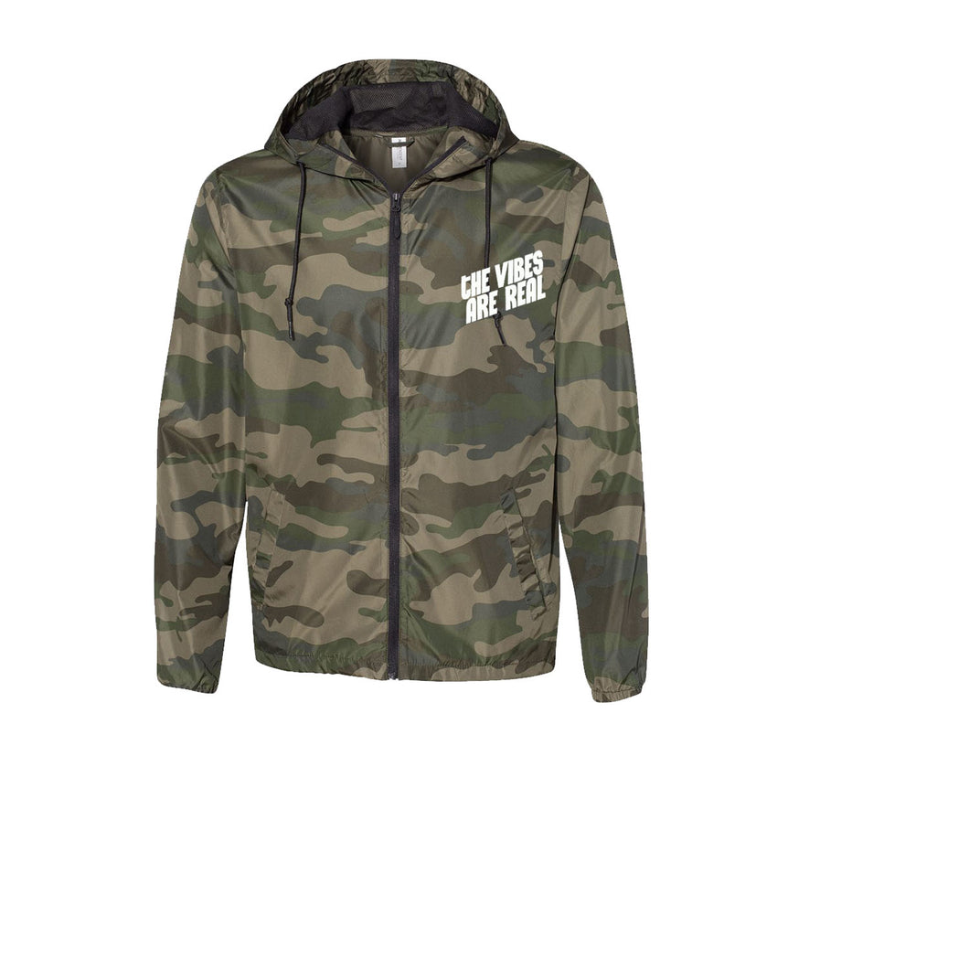The Vibes Are Real Camo Windbreaker