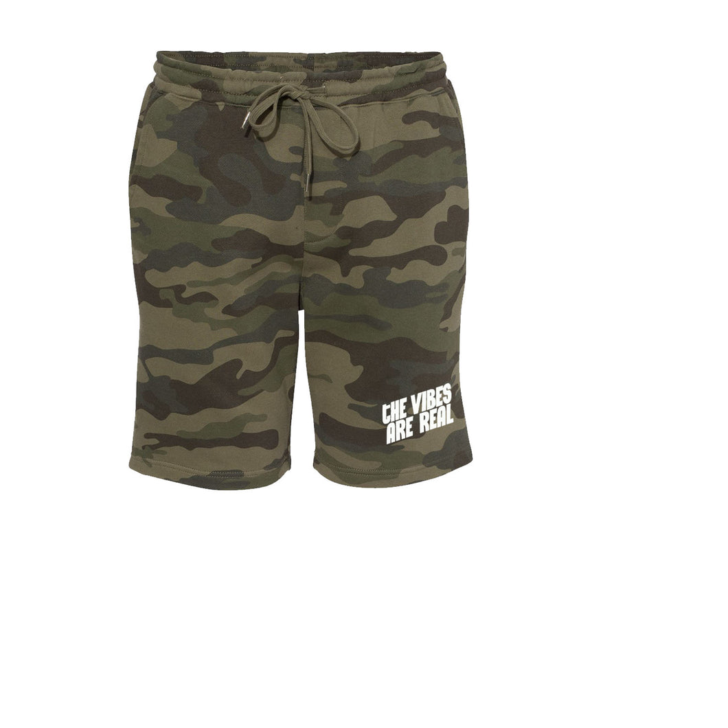 The Vibes Are Real Army Camo Shorts