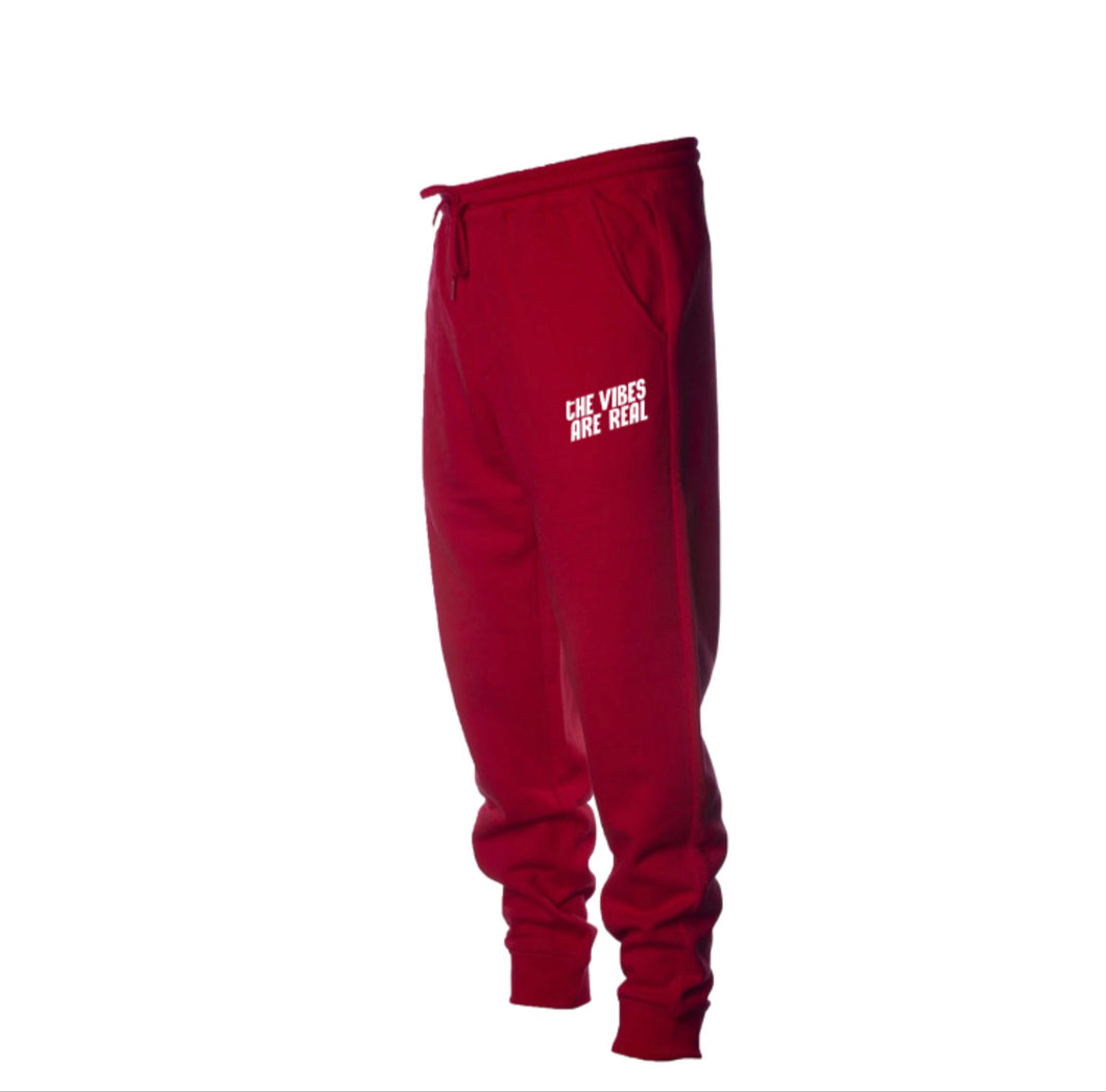 The Vibes Are Real Candy Red Sweatpants