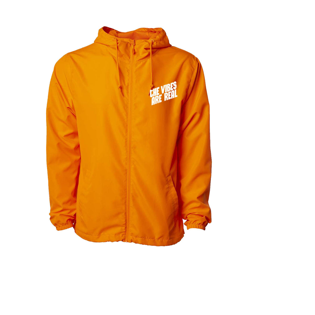 The Vibes Are Real Neon Orange Windbreaker