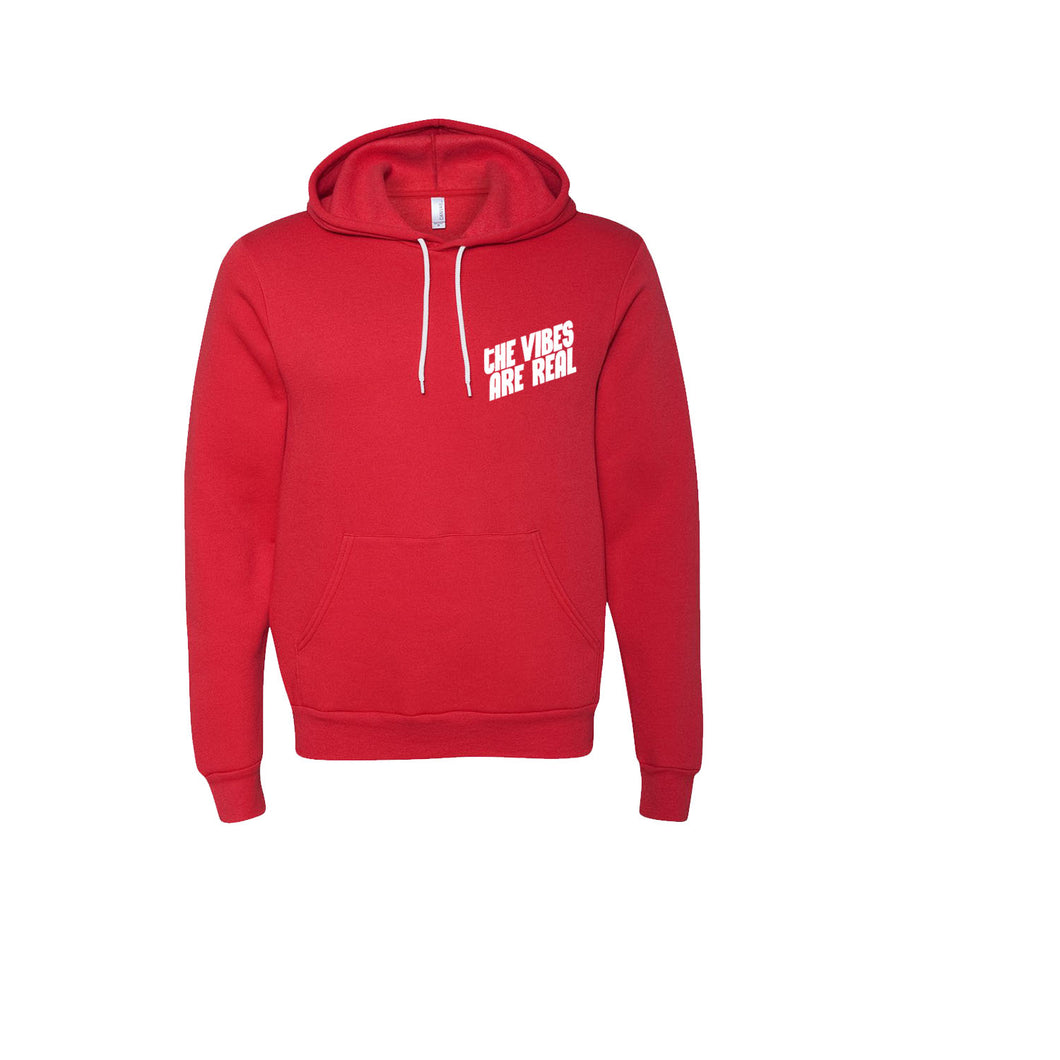 The Vibes Are Real Candy Red Hoodie