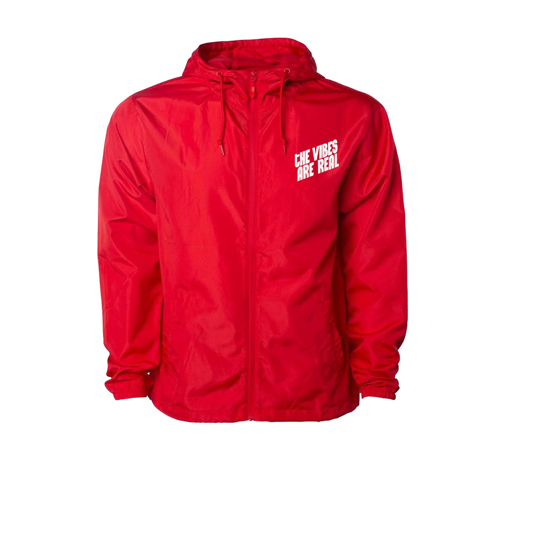 The Vibes Are Real Cherry Red Windbreaker