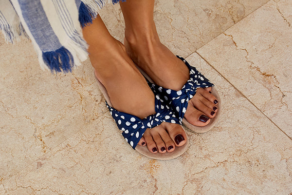 sambag polka dot slide sandal paula joye collaboration
