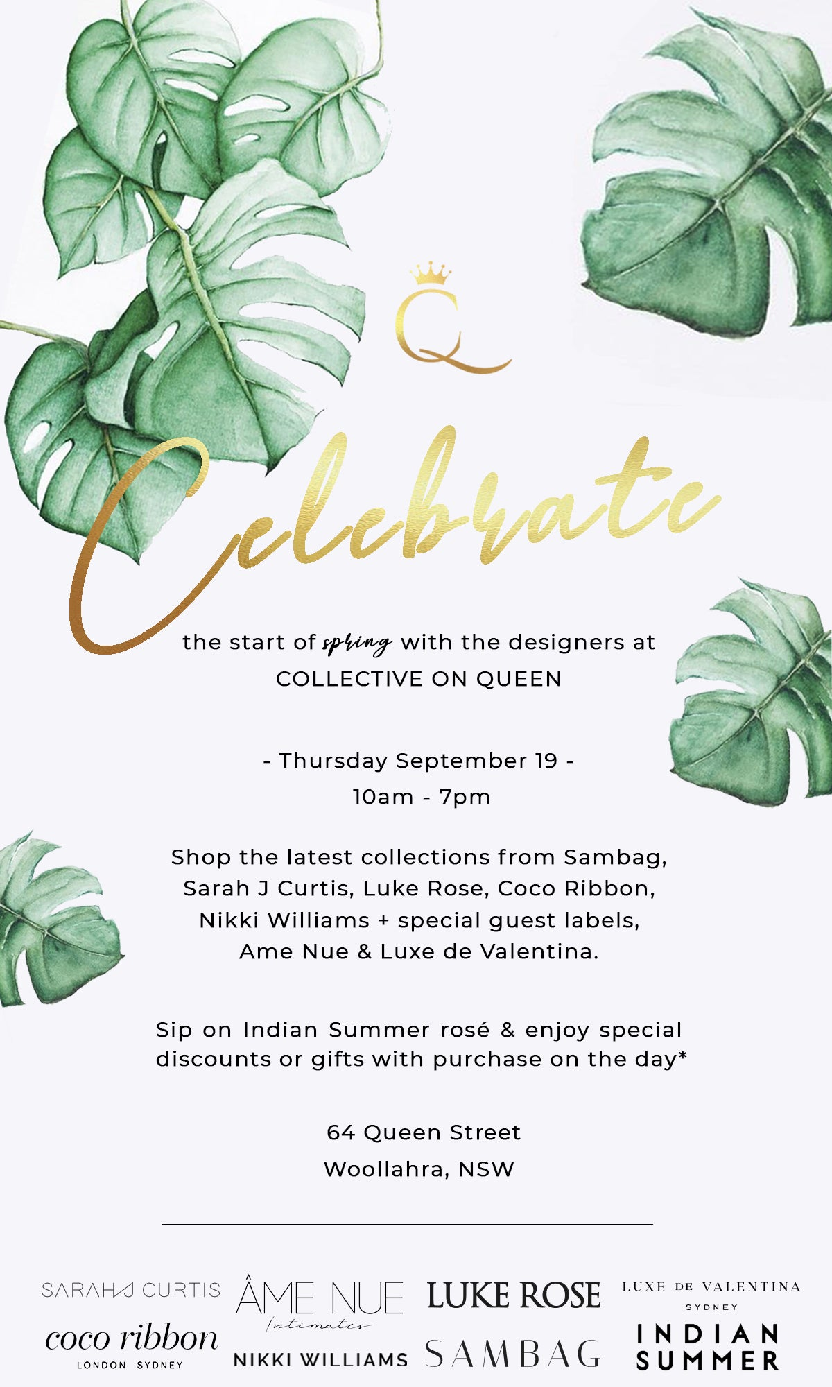 sydney fashion invitation
