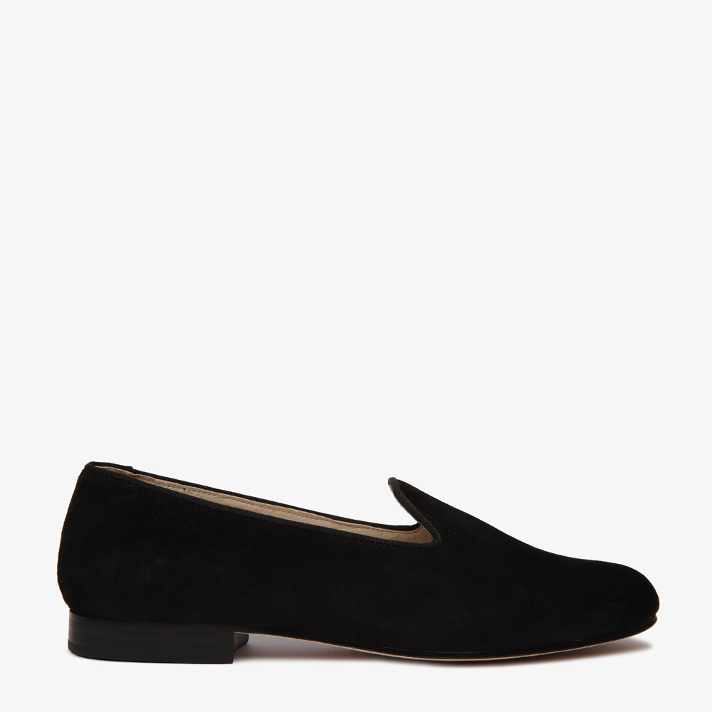 Lola Black Suede Loafer