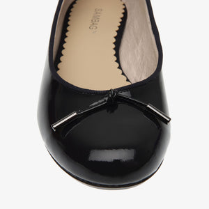Grace Navy Patent Leather Ballet Flat