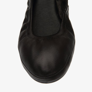 Belinda Black Leather Ballet Flat