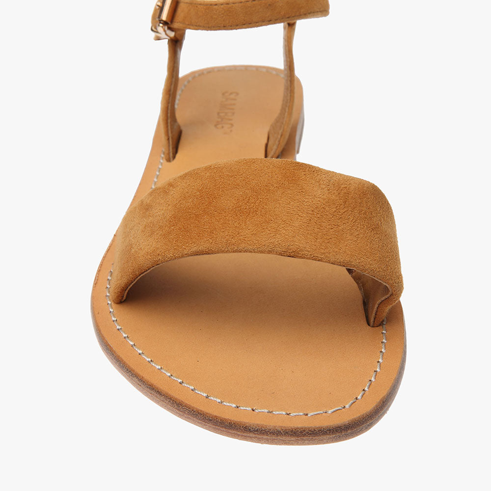 Mim Tan Suede Leather Sandal
