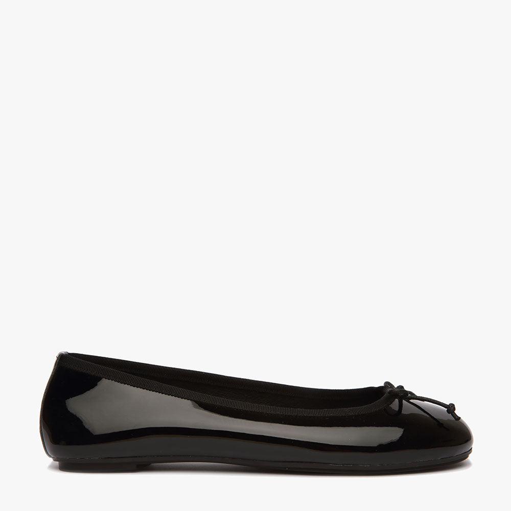Natalie Black Patent Leather Ballet