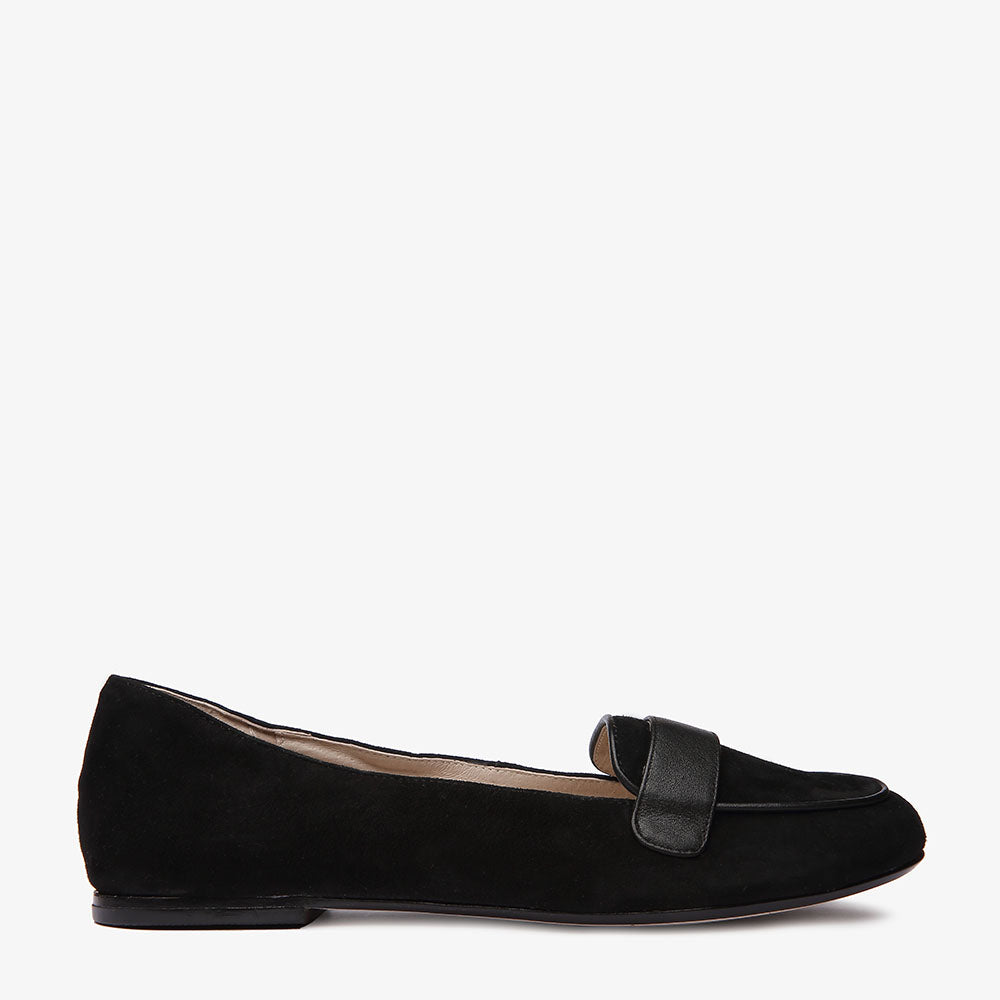 Domi Black Suede and leather Loafer