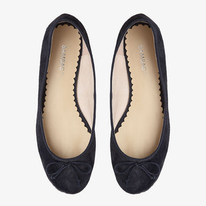 Tina Navy Calf Hair Ballet