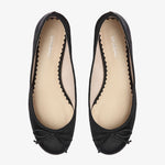 Tina Black Calf Hair Ballet Flat