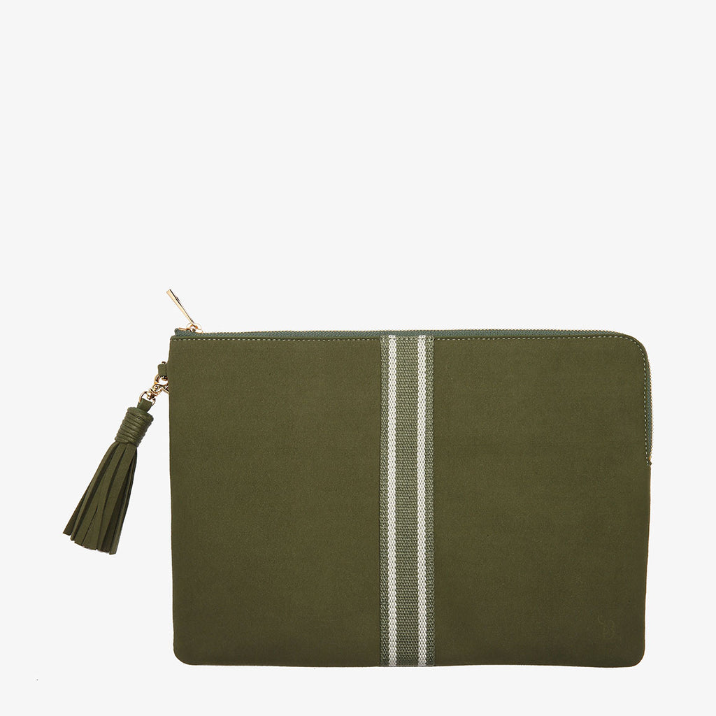 Rose Khaki Microfibre Laptop Bag