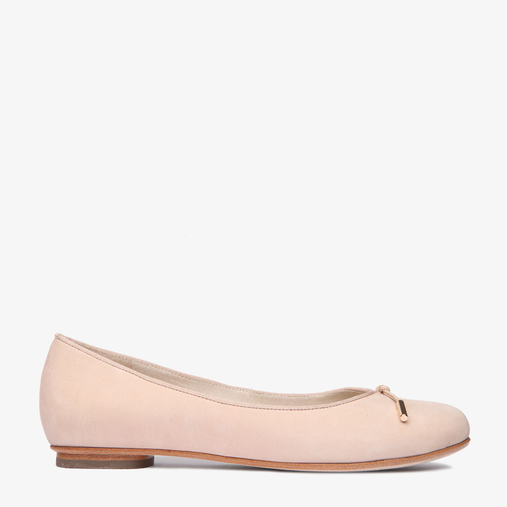 Grace Blush Leather Ballet Flat