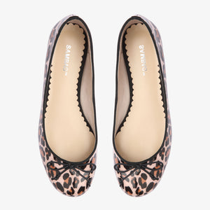 Tina Leopard Patent Leather Ballet Flat