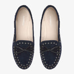 Bella Navy Suede Loafer