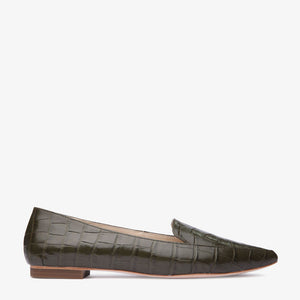 Rebecca Green Croc leather Pointed Flat