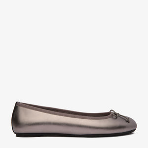 Natalie Pewter Leather Ballet