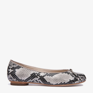 Grace Python Snake Embossed Leather Ballet Sample -38
